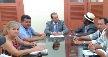 Reunião com o Presidente da ALEPA Márcio Miranda e membros do CONJUS