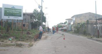 Governo em Ação: Antônio Baião sendo preparada para receber o Asfalto